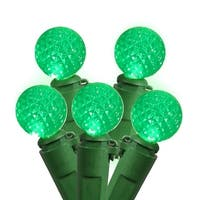 Set of 50 Seafoam Green LED G12 Berry Fashion Glow Christmas Lights - Green Wire