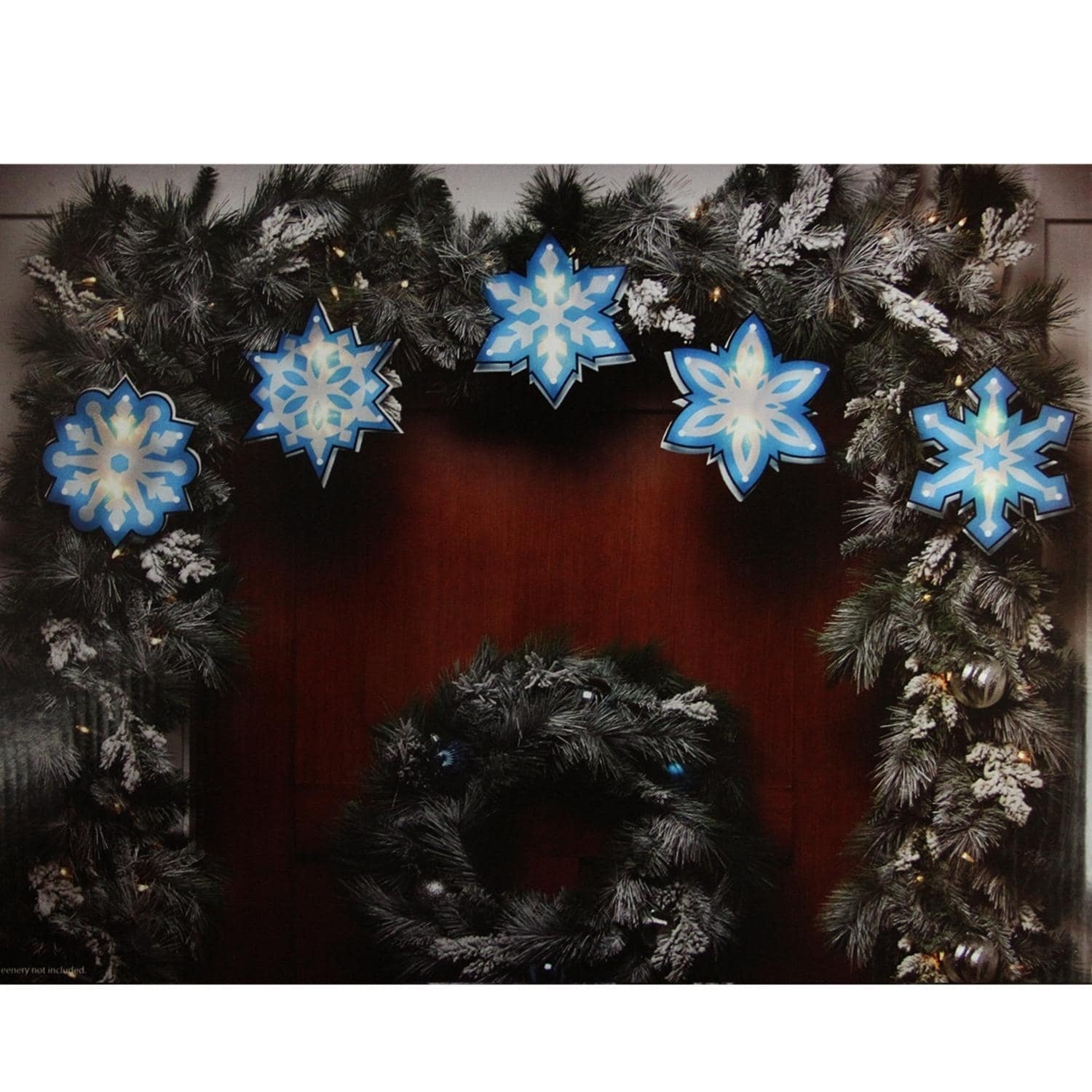 IMPACT 7' Blue and White Shimmering Snowflake Christmas L...
