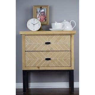 Heather Ann Creations Urban Collection 2-Drawer Parquet Accent Cabinet