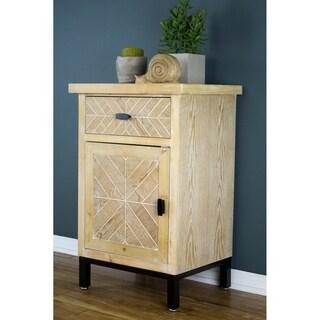 Heather Ann Creations Urban 1-Drawer 1-Door Parquet Accent Cabinet