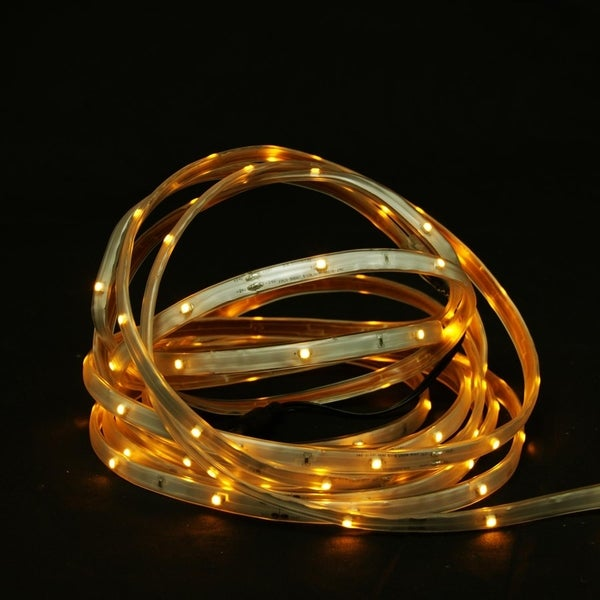 18 Amber Led Indoor Outdoor Christmas Linear Tape Lighting White Finish