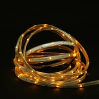 18' Amber LED Indoor/Outdoor Christmas Linear Tape Lighting - White Finish