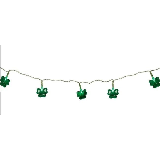 Sienna Set of 20 Green LED Mini St Patrick's Day Shamrock...