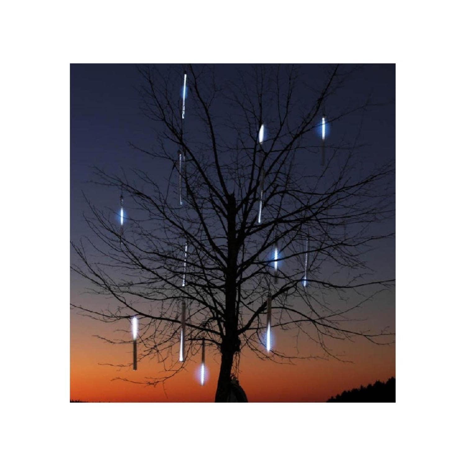 Set of 10 Dripping Icicle Double-Sided Christmas Light Tu...