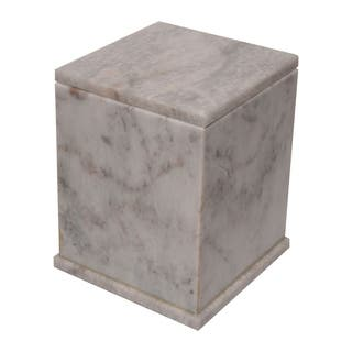 Polished Marble Decorative Cremation Urn with Lid, Cloud Gray https://ak1.ostkcdn.com/images/products/17337516/P23582173.jpg?impolicy=medium