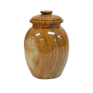 Polished Marble Decorative Cremation Urn with Lid, Amber https://ak1.ostkcdn.com/images/products/17337517/P23582168.jpg?impolicy=medium