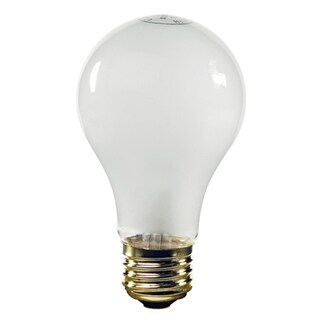Pack of 25 Opaque White E26 Base Replacement A19 Light Bulbs - 25 Watts
