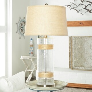 Studio 350 Set of 2, Glass Metal Jute Table Lamp 31 inches high