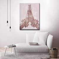 Namaste' Inspirational Canvas Art by Olivia Rose - Brown/Pink