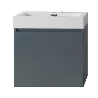 Virtu USA Zuri 24-inch Polymarble Single Bathroom Vanity Partset (Option: Orange)