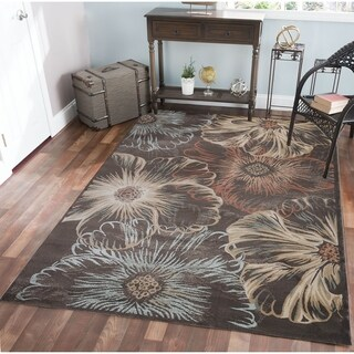 Gallina Flower Brown Area Rug (7'10 x 10'6) - 7'10 x 10'6