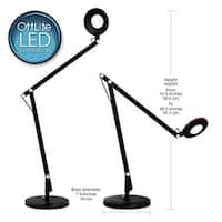 LED Crane Desk Lamp, Blk