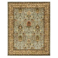 Hand-tufted Wool Blue Traditional Oriental Morris Rug - 4' x 6'