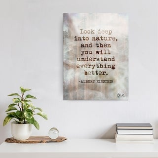 Einstein Quote' Inspirational Canvas Art by Olivia Rose