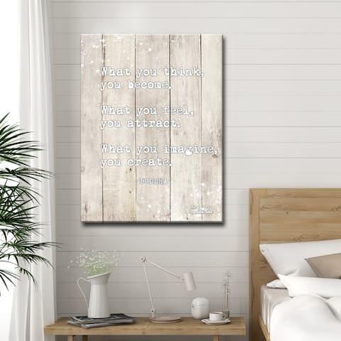 Olivia Rose 'Buddha Quote' Inspirational Canvas Art