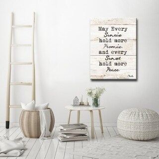 'Every Sunrise & Sunset' Inspirational Canvas Wall Art by Olivia Rose' - Brown