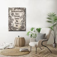 Chakra' Inspirational Canvas Art by Olivia Rose - Brown