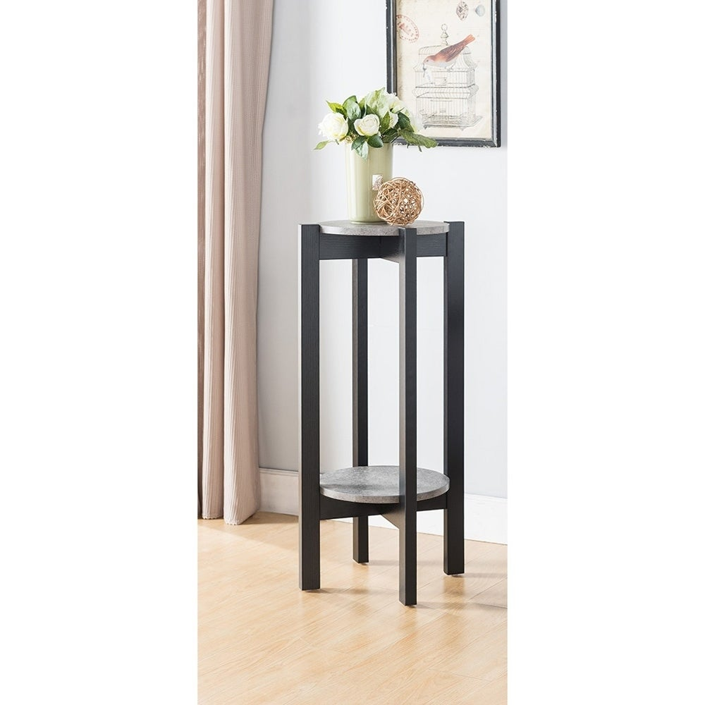 Sintechno S-ID151350 Multi-Tiered Plant Stand, Brown (Wood)