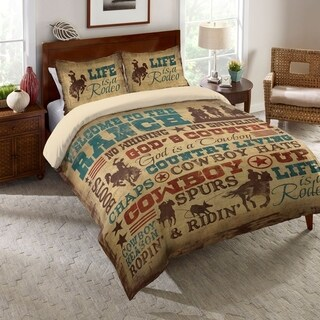 Laural Home Rodeo Words Duvet Cover