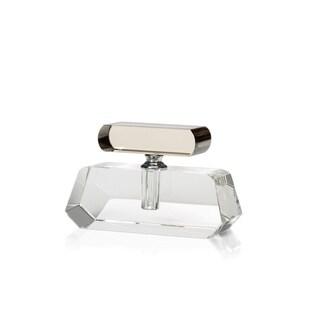 "4.5"" Tall Crystal Perfume Bottle, Beveled Design"
