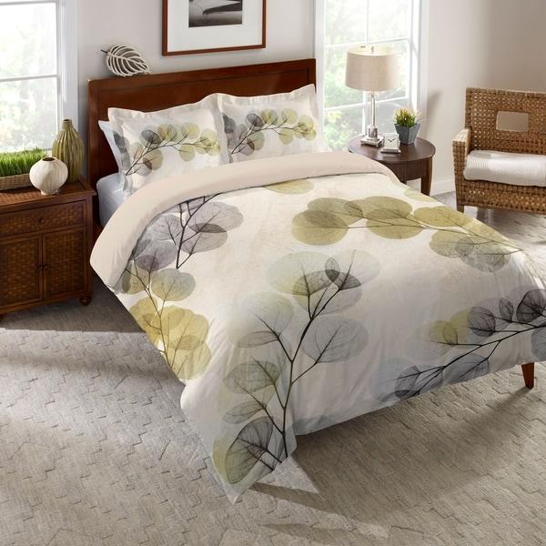 Laural Home Smoky Eucalyptus Fronds Duvet Cover