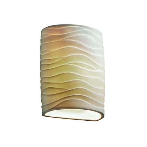 Justice Design Limoges 1-light ADA Wall Sconce, Waves Shade