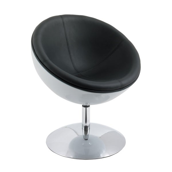 CorLiving Modern Bonded Leather Circular Chair