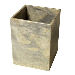 Marble Wastebasket, Cloud Gray