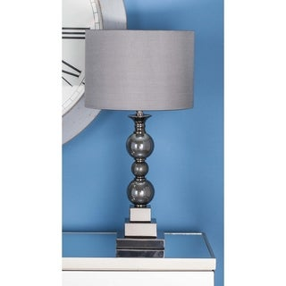 Studio 350 Set of 2, Metal Glass Table Lamp 24 inches high