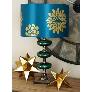 Studio 350 Set of 2, Metal Glass Table Lamp 23 inches high