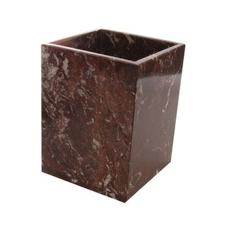 Marble Wastebasket, Red Zebra