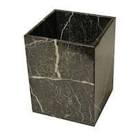 Marble Wastebasket, Black Zebra