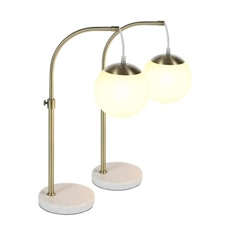 Studio 350 Set of 2, Metal Marble Table Lamp 20 inches high