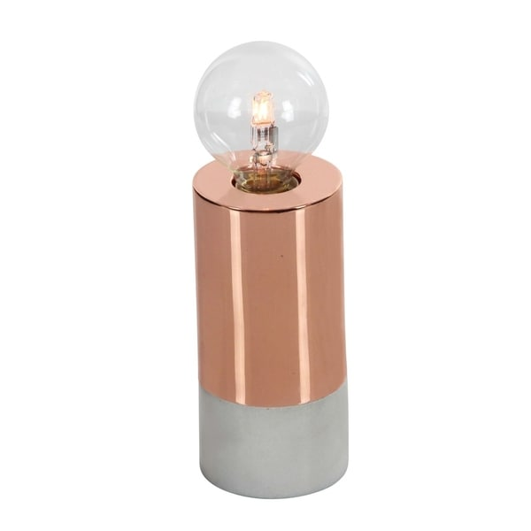 Studio 350 Metal Marble Glass Lamp W Bulb 3 inches wide, 7 inches high