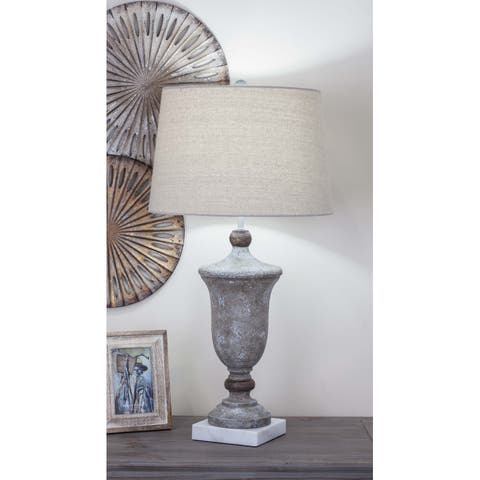 Set of 2 Traditional 30 Inch Urn-Shaped Table Lamps by Studio 350