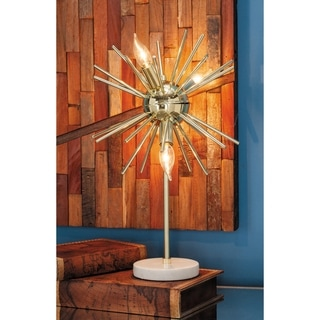 Studio 350 Metal Marble Accent Lamp 13 inches wide, 21 inches high