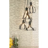 Studio 350 Metal 5L Pendant W Bulb 18 inches wide, 58 inches high