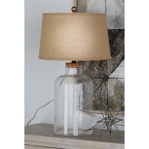 Studio 350 Set of 2, Glass Fillable Table Lamp 29 inches high
