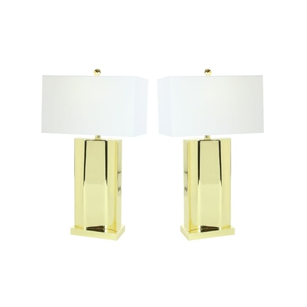 Studio 350 Set of 2, Metal Table Lamp Gold Usb 29 inches high