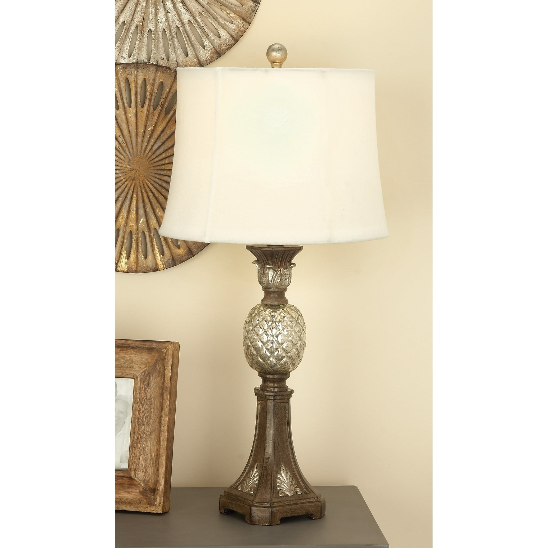 Studio 350 Set of 2, PS Glass Pineapple Lamp 29 inches hi...