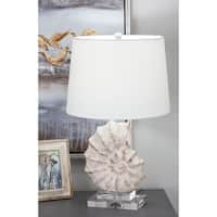 Studio 350 Set of 2, PS Glass Sea Snail Table Lamp 24 inches high