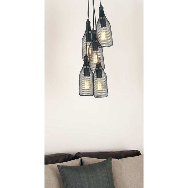 Contemporary 56 Inch 5-Light Iron Bell Pendant Lamp by Studio 350