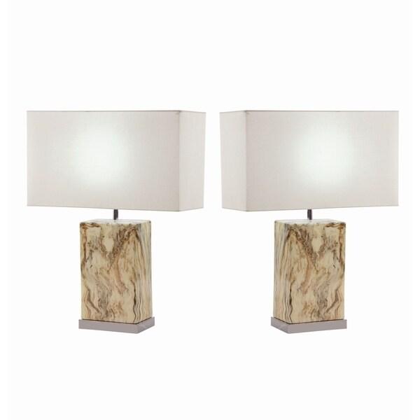 Studio 350 Set of 2, Ceramic Table Lamp 23 inches high