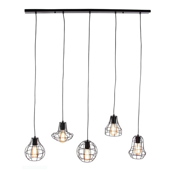 Studio 350 Metal 5L Pendant W Bulb 42 inches wide, 52 inches high