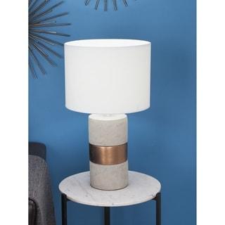 Studio 350 Set of 2, Ceramic Concrete Table Lamp 24 inches high