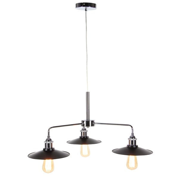 Contemporary 48 Inch Three-Light Pendant Lamp with Bulb by Studio 350