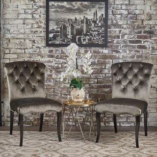 Hallie Traditional Velvet Dining Chair (Set of 2) by Christopher Knight Home
