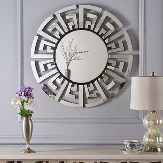 Keung Chinese Wall Mirror by Christopher Knight Home - Clear