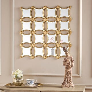 Melina Honeycomb Square Wall Mirror by Christopher Knight Home
