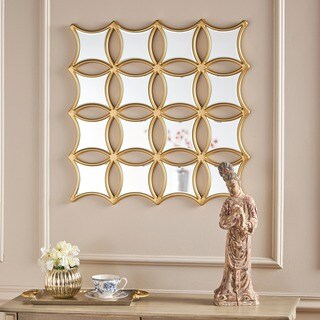 Melina Honeycomb Square Wall Mirror by Christopher Knight Home - Clear